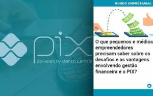 O Que Pequenos E Médios Empreendedores Precisam Saber Sobre Os Desafios E As Vantagens Envolvendo Gestão Financeira E O Pix Organização Contábil Lawini - Contabilidade em Brasília - DF | C & V Contadores Associados